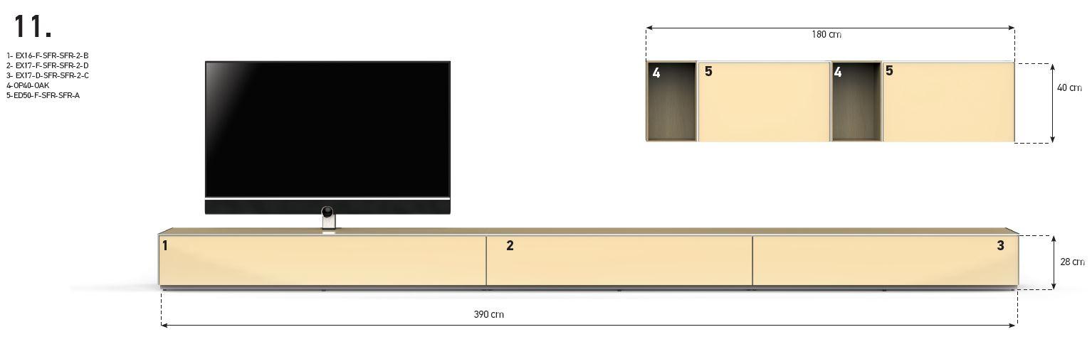 Etagère ouverte avec paroi arrière  OP40  Sonorous Elements -> Meuble Tv Avec Paroi