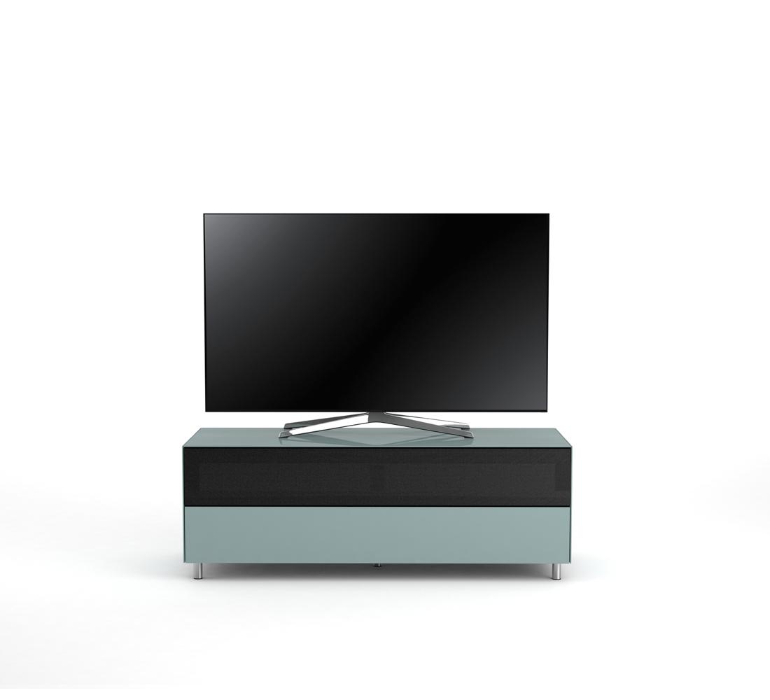 Meuble Tv Design 130 Cm Epure Single Sound L Verre Bleu Nordic