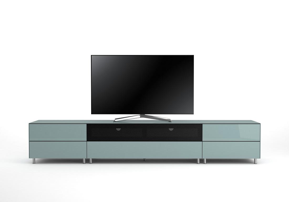 Meuble Tv De Salon meuble tv design 260 cm epure salon sound k2 verre bleu nordic