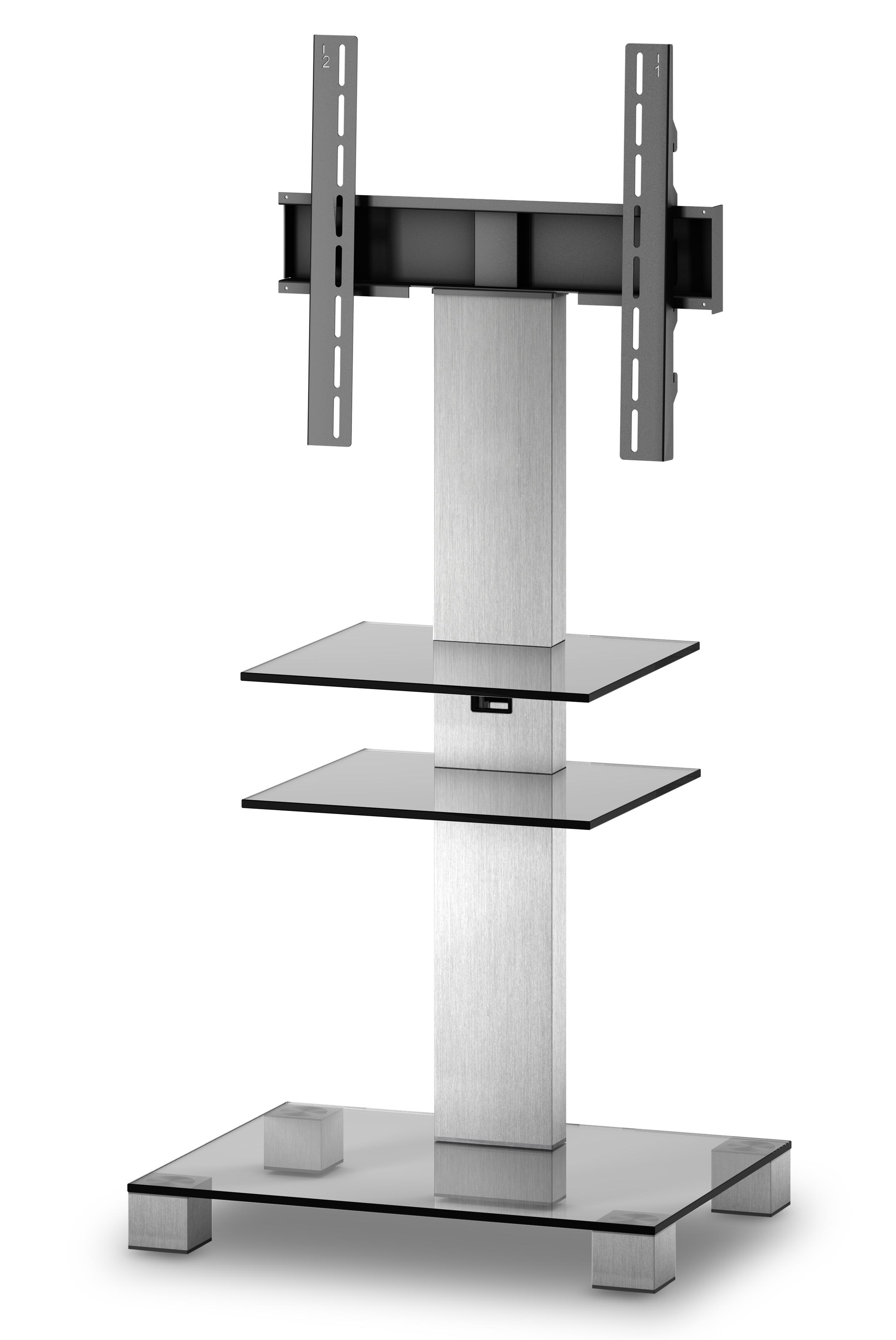 sonorous meuble tv pl2525 c inx verre claire et inox avec. Black Bedroom Furniture Sets. Home Design Ideas