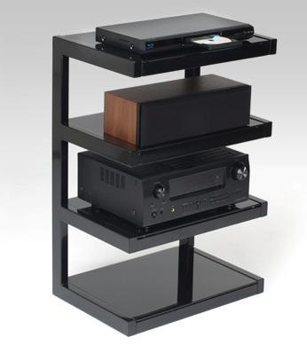 Norstone meuble hifi esse noir brillant noir meubles - Meuble tv infrarouge ...