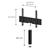 Meuble TV Sonorous Lowboard Studio sta160t-wht-gry-bs façade en tissu Gri / Idéal pour haut-parleur central